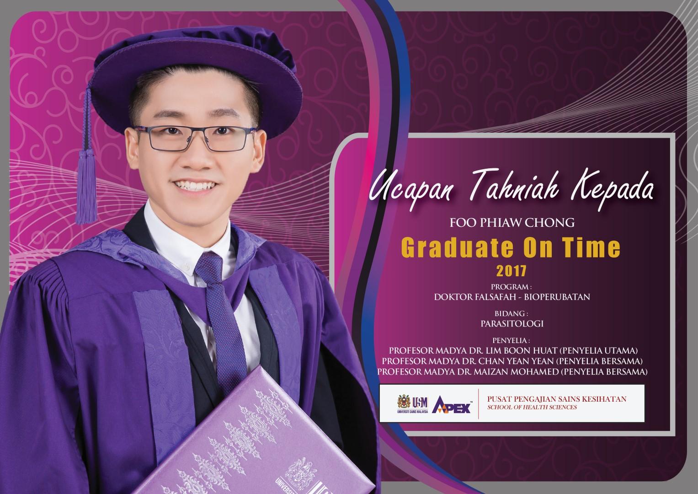 Pusat Pengajian Sains Kesihatan Graduate On Time